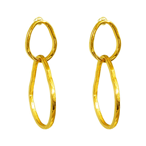 Paradis Large Link Earrings | Gold