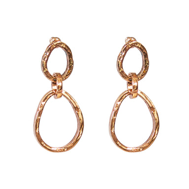 Paradis Medium Double Link Earrings | Rose