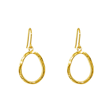 Paradis Medium Drop Earrings | Gold