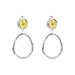 Paradis Medium Drop Earrings | Polished Gold Detail