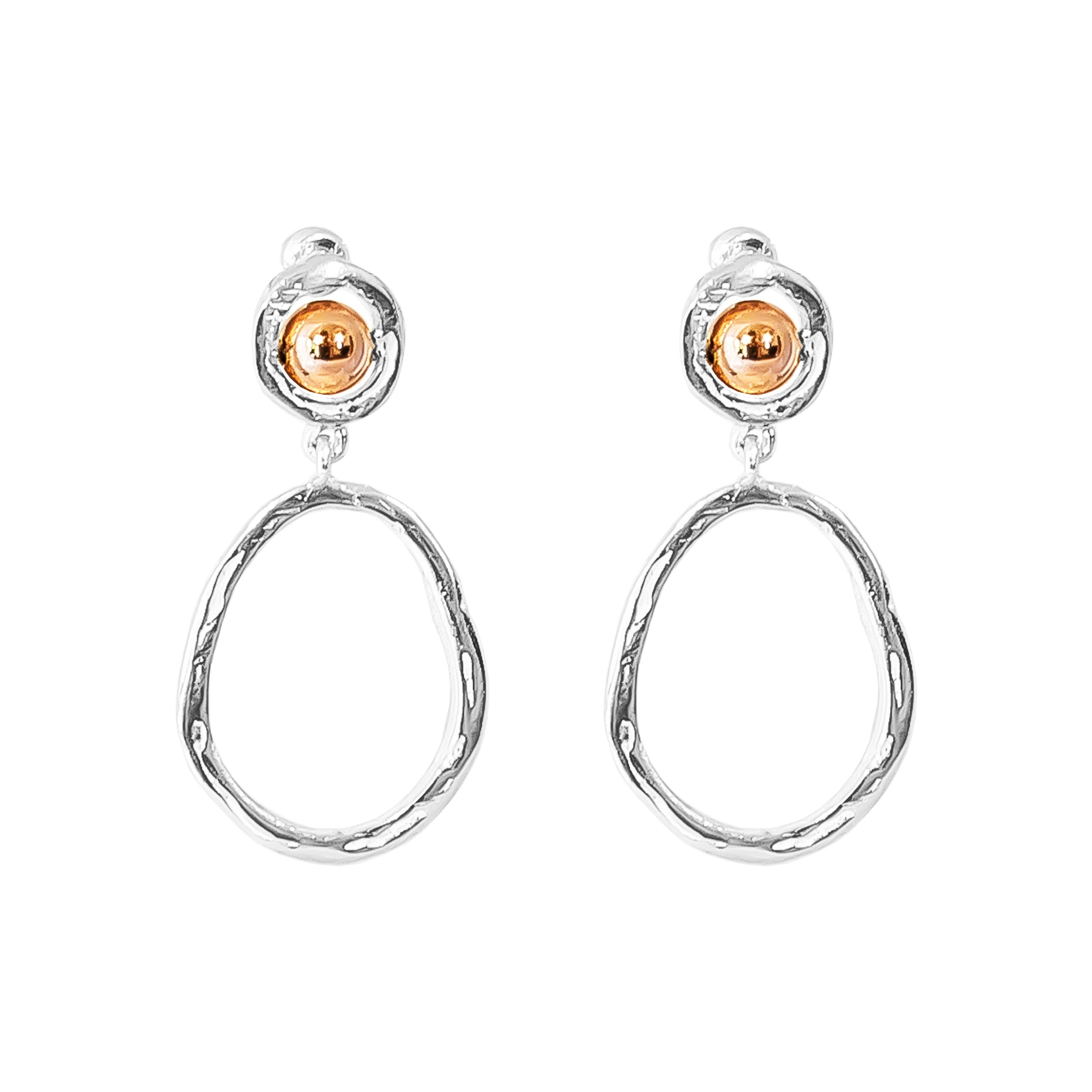 Paradis Medium Drop Earrings | Polished Rose Detail