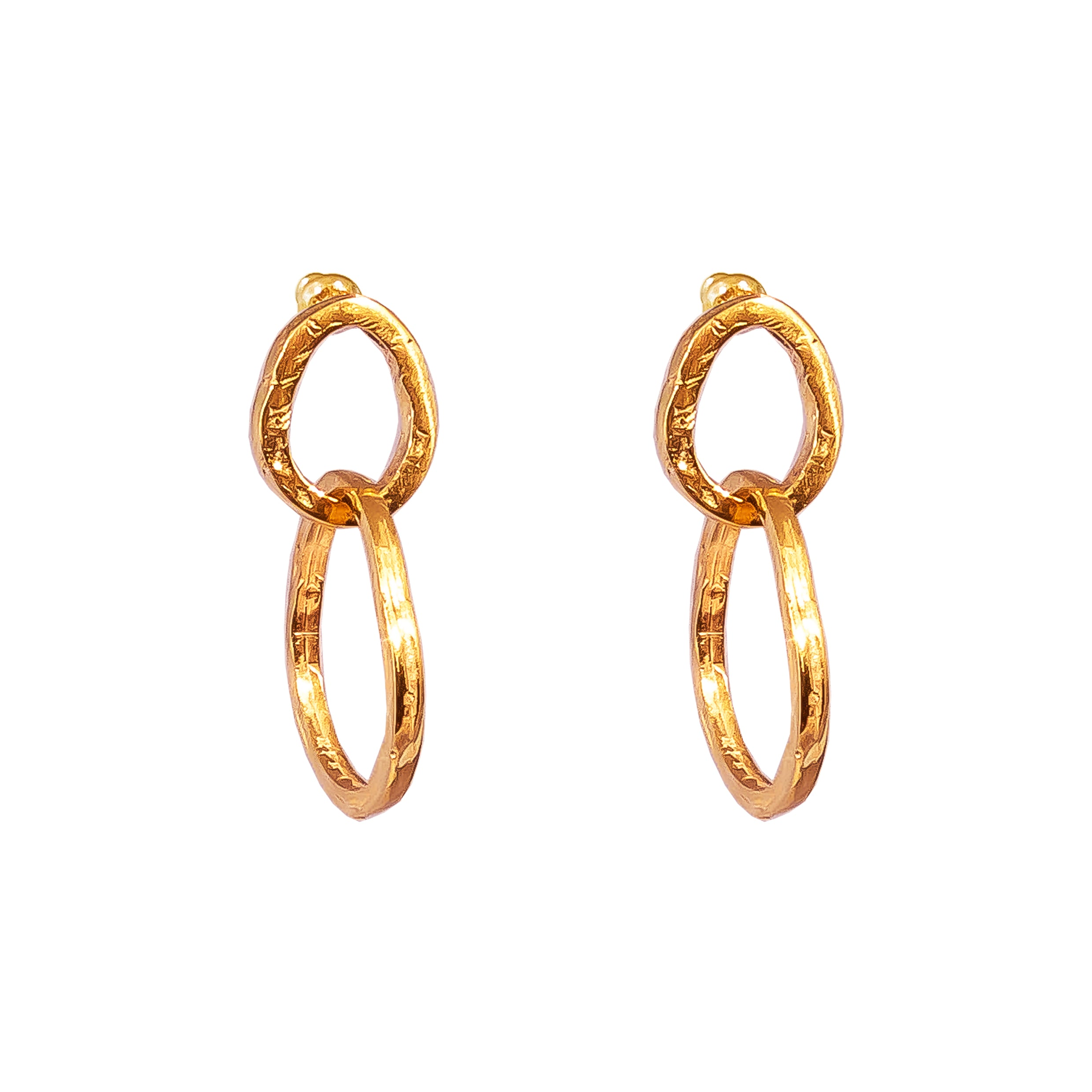 Paradis Medium Link Earrings | Rose
