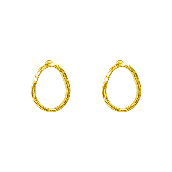 Paradis Medium Stud Earrings | Gold