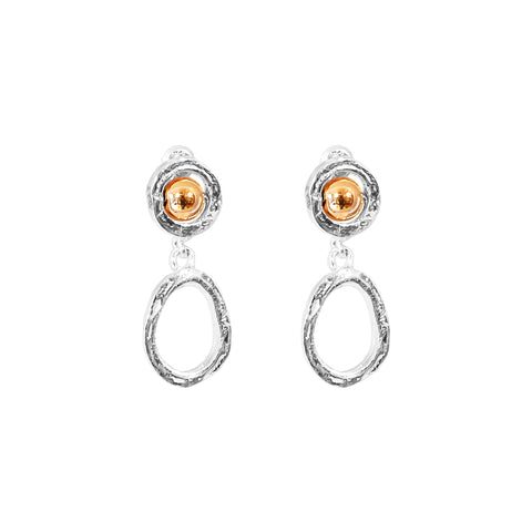 Paradis Small Drop Earrings | Polished Rose Detail