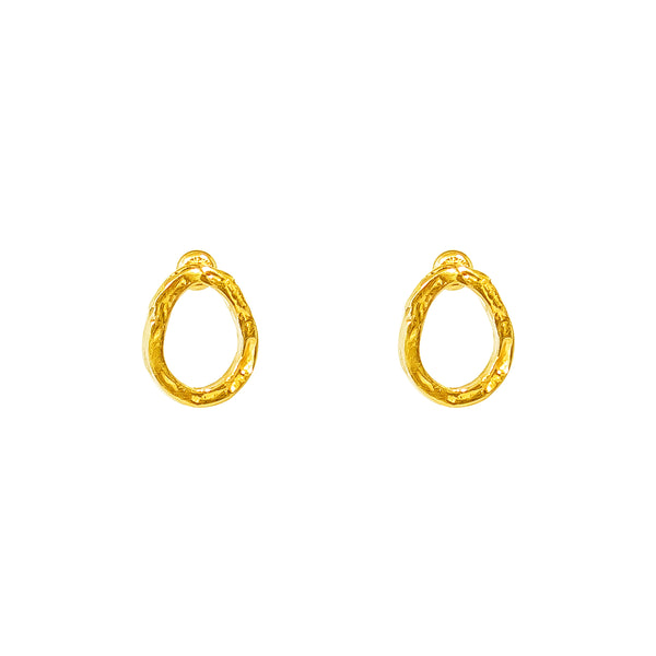 Paradis Stud Earrings | Gold