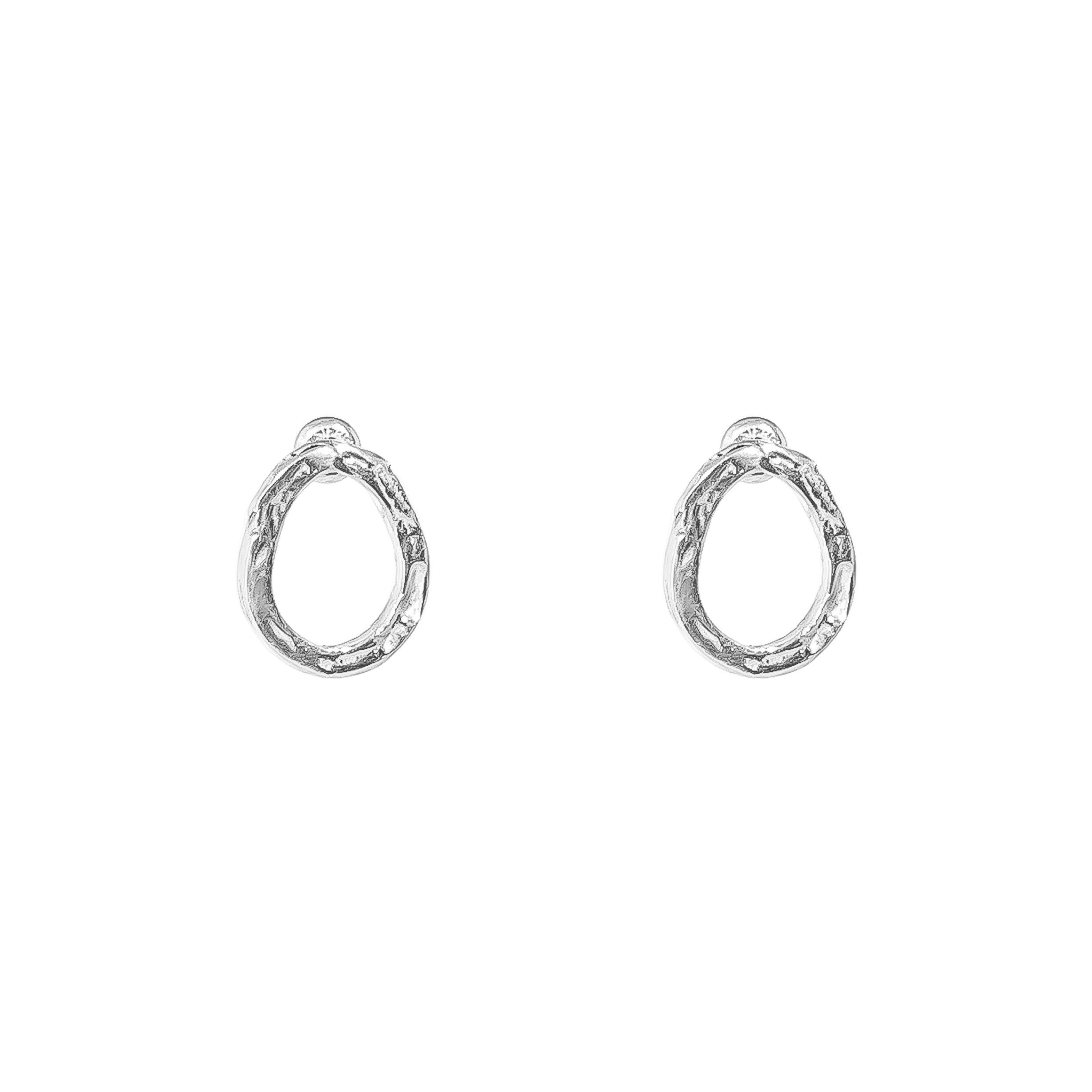 Paradis Stud Earrings | Silver