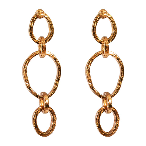 Paradis Tri Link Earrings | Rose
