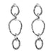 Paradis Tri Link Earrings | Silver