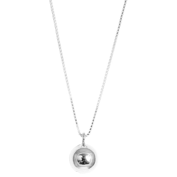 Paris Chime Ball Necklace - Long | Polished Silver Detail