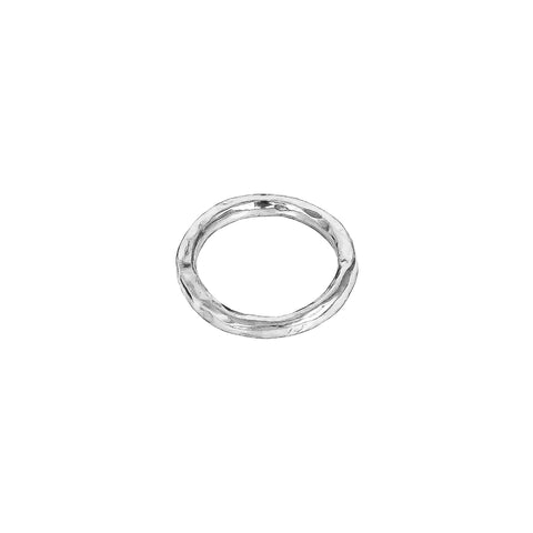 Petra Hammered Ring | Silver