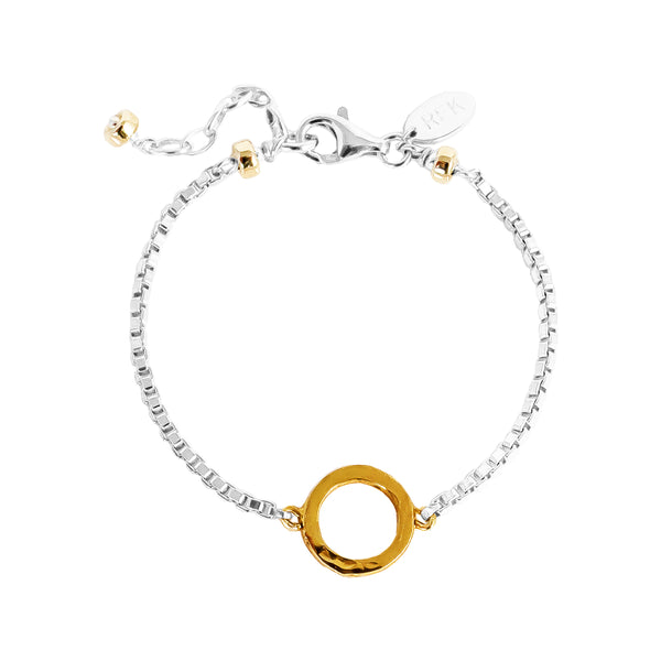 Phoenix Box Chain Bracelet | Gold Ring And Detail