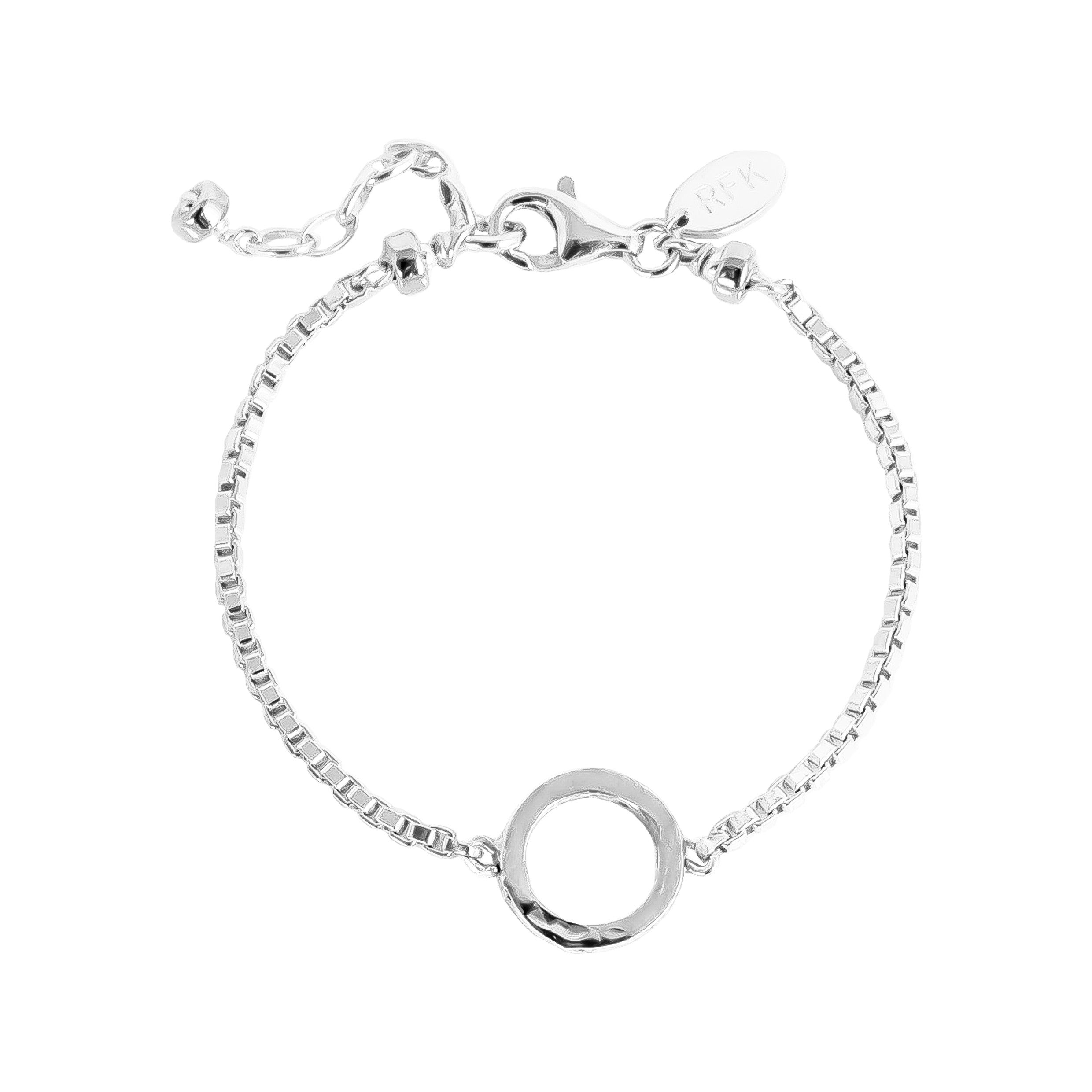 Phoenix Box Chain Bracelet | Silver Ring And Detail