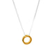 Phoenix Fine Hammered Ring Necklace | Gold