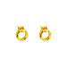 Phoenix Fine Stud Earrings | Gold