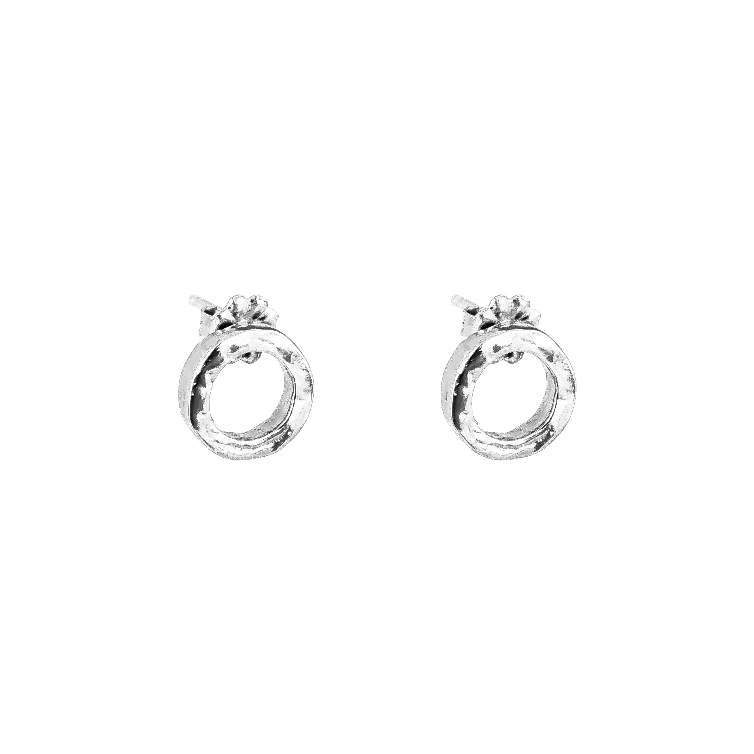 Phoenix Fine Stud Earrings | Silver