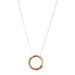 Phoenix Hammered Ring Necklace | Rose