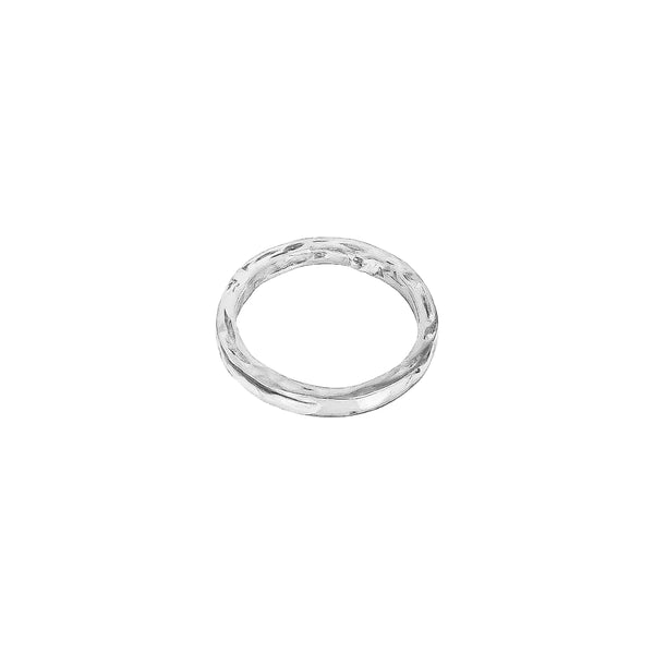 Phoenix Hammered Ring | Silver
