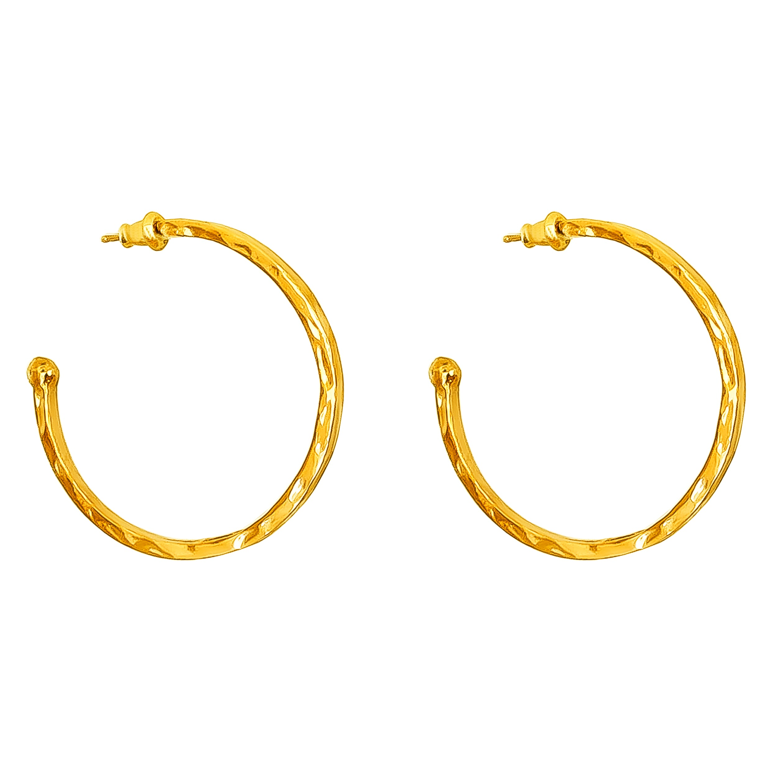 Phoenix Large Hoop Earrings | Gold
