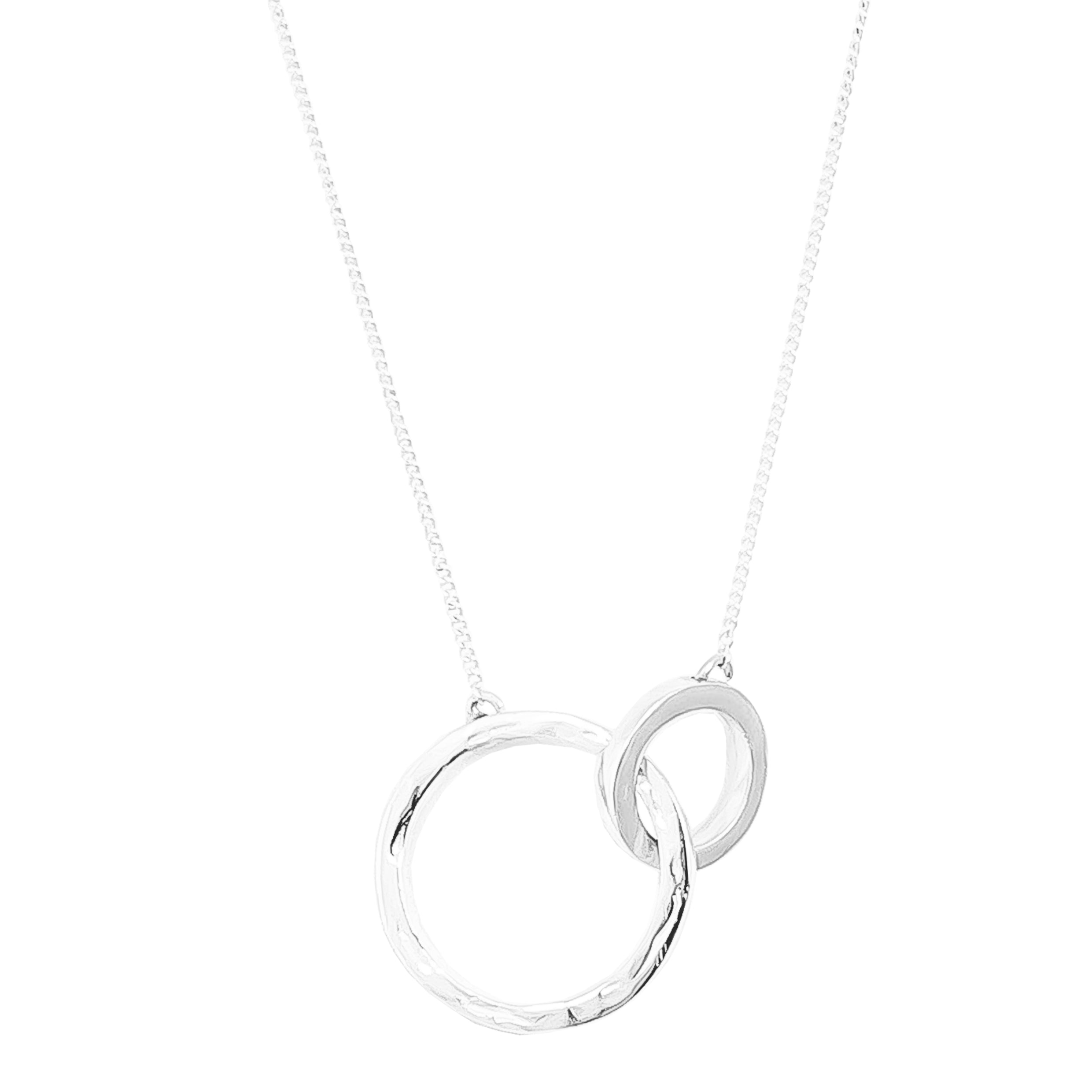 Phoenix Large Linked Ring Necklace | Silver