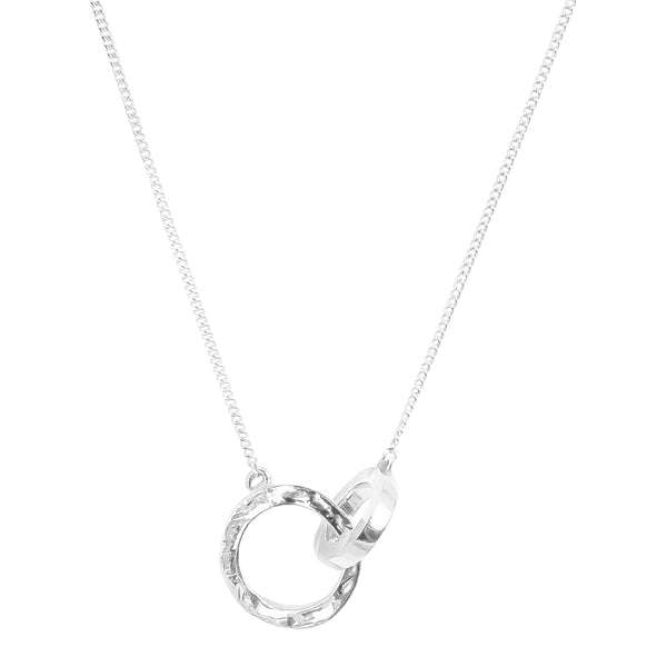 Phoenix Linked Ring Necklace | Silver