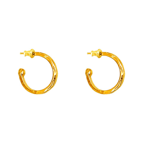 Phoenix Medium Hoop Earrings | Gold