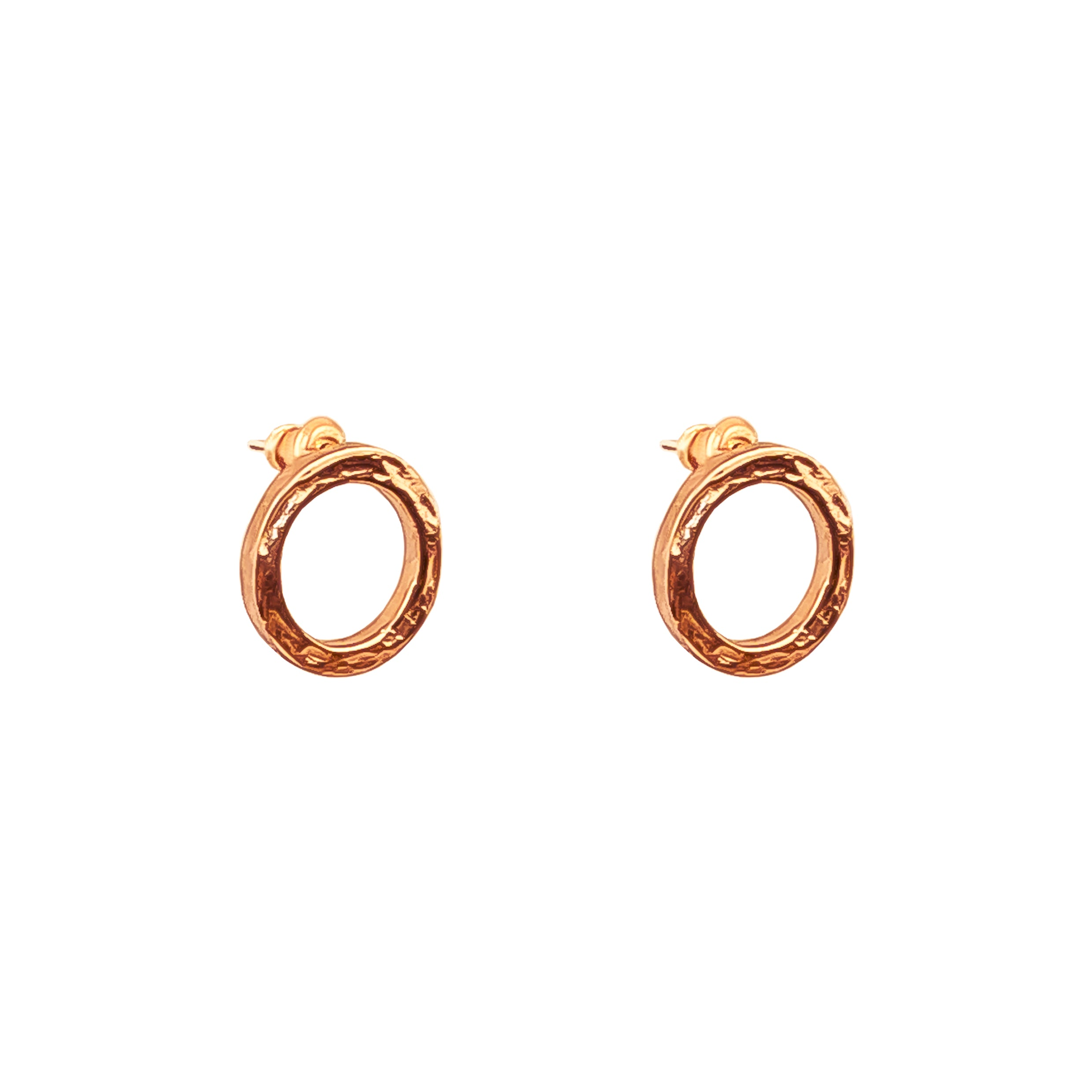 Phoenix Stud Earrings With Chain Detail | Rose