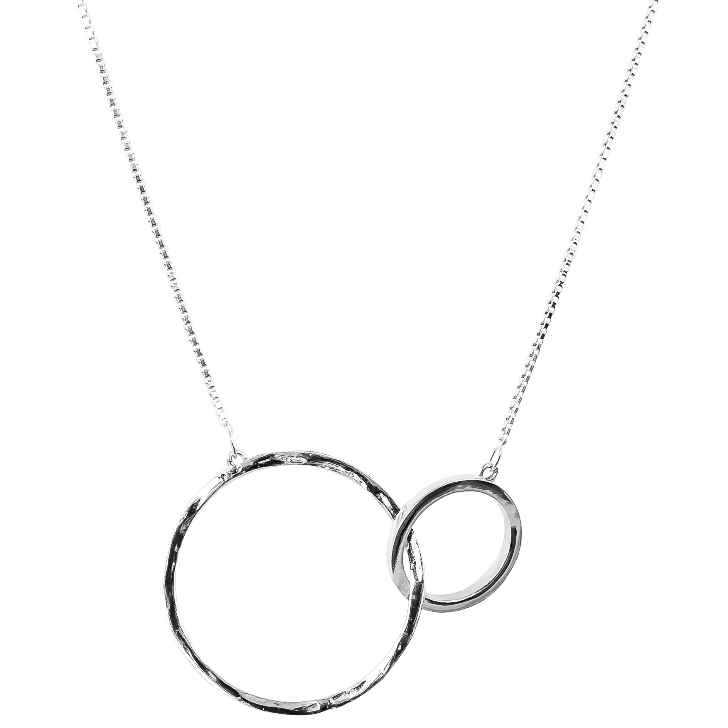 Phoenix X-Large Linked Ring Necklace - Long | Silver