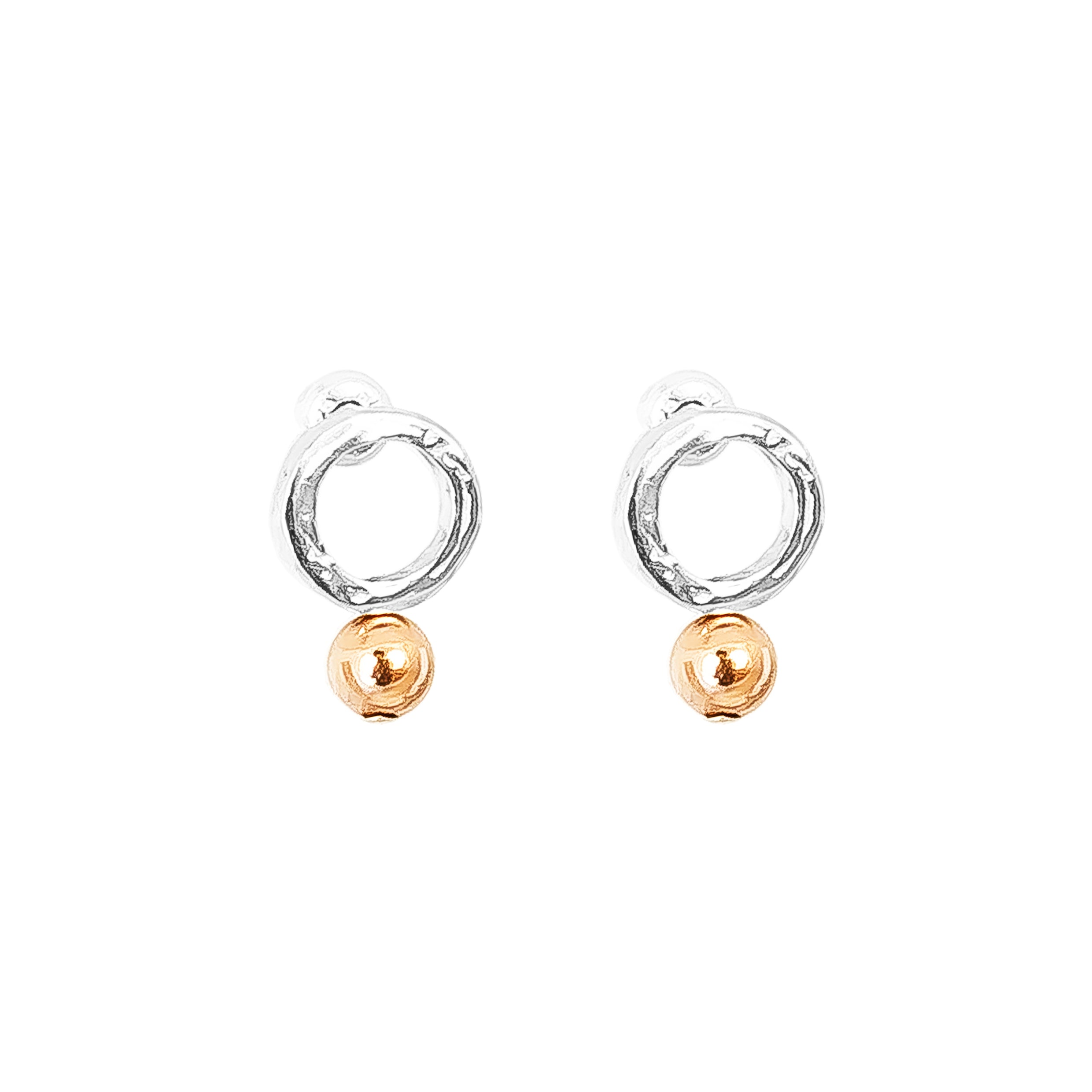Radison Fine Feature Stud Earrings | Polished Rose Detail