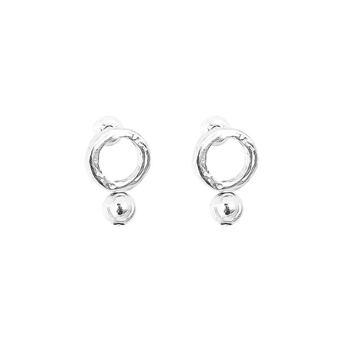 Radison Fine Feature Stud Earrings | Polished Silver Detail