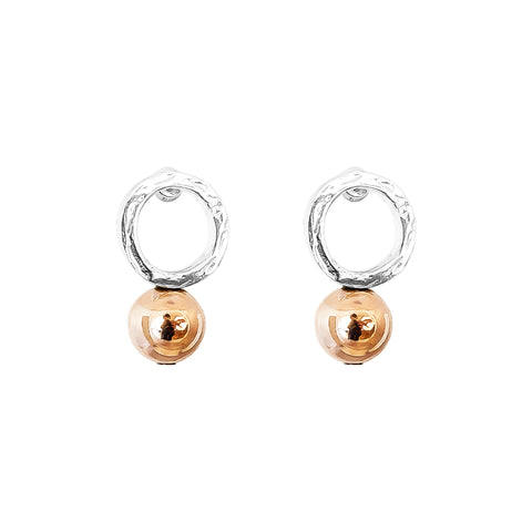 Radison Large Feature Stud Earrings | Polished Rose Detail
