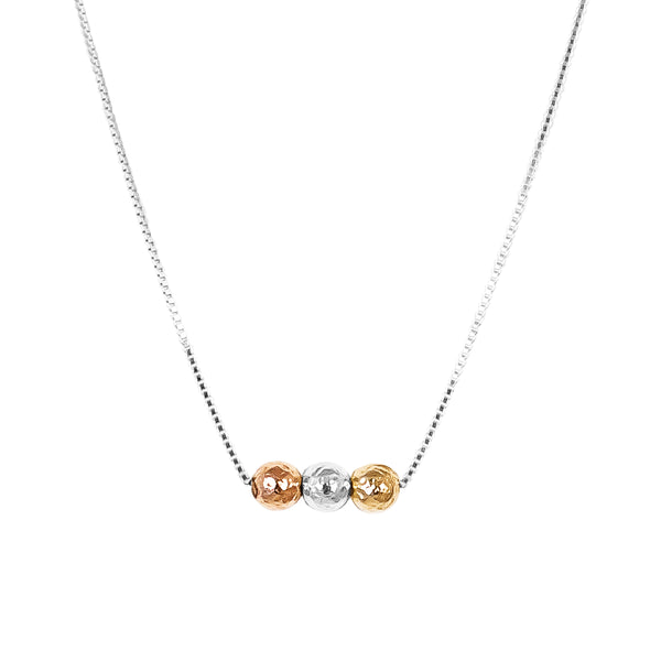 Skye Tri Bar Necklace | Hammered Detail