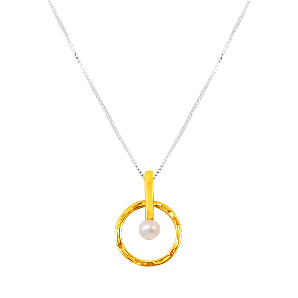 Taylor Necklace - Mid | Gold With Pearl Detail