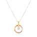 Taylor Necklace - Mid | Rose With Pearl Detail
