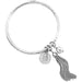 Teo Bangle | Hammered Silver Disc, Ball And Tassel