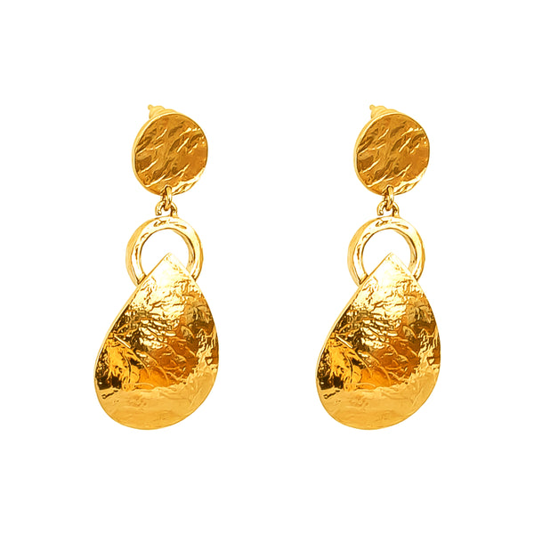 Tyra Hammered Earrings | Gold