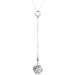 Vesper Box Chain Lariet Necklace - Mid | Polished Silver Detail