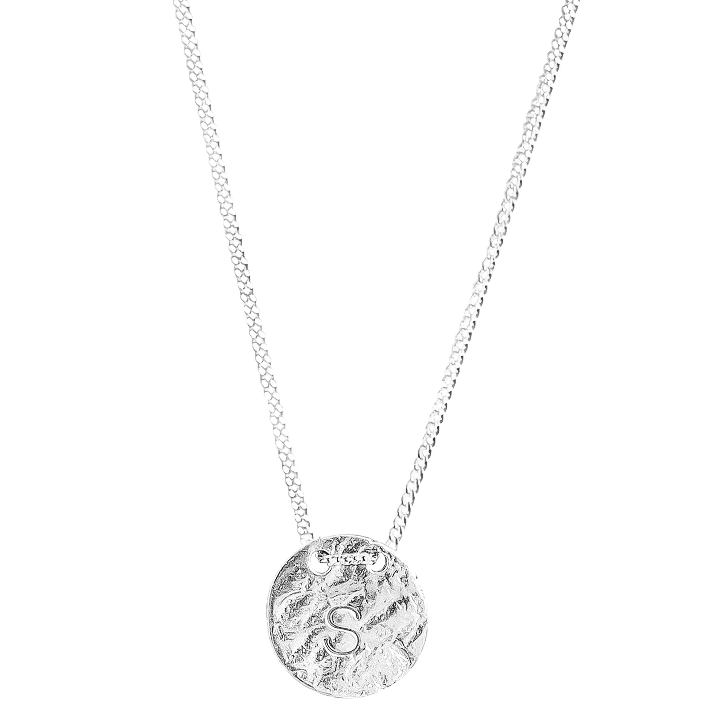 Vesper Initial Necklace | Silver