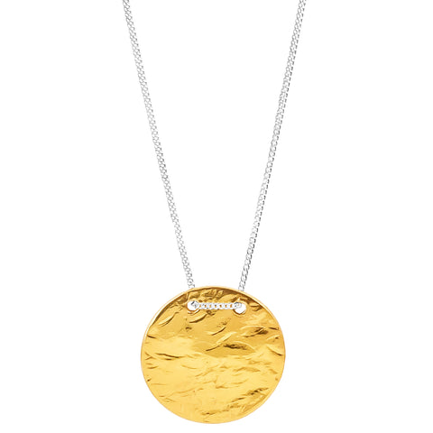 Vesper Large Disc Necklace | Gold