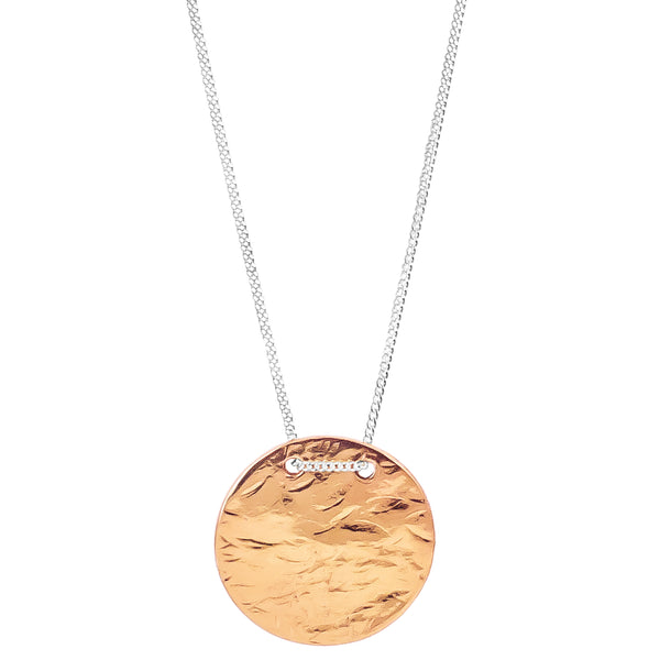 Vesper Large Disc Necklace | Rose