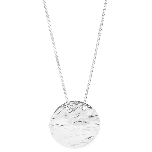 Vesper Large Disc Necklace | Silver
