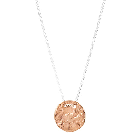 Vesper Small Disc Necklace | Rose