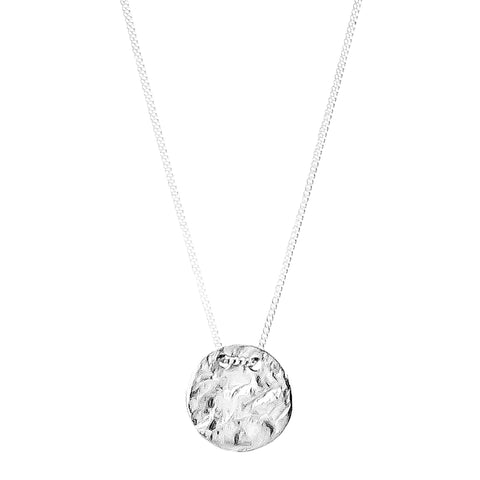 Vesper Small Disc Necklace | Silver