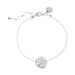 Vogue Fine Hammered Disc Bracelet | Silver Disc And Detail