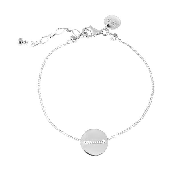 Vogue Fine Polished Disc Bracelet | Silver Disc And Detail
