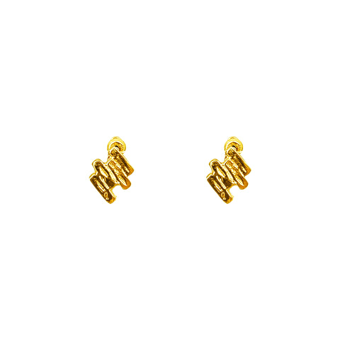 Zaine Stud Earrings | Gold