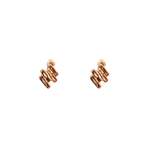 Zaine Stud Earrings | Rose