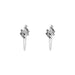 Zaine Stud Earrings With Chain | Silver