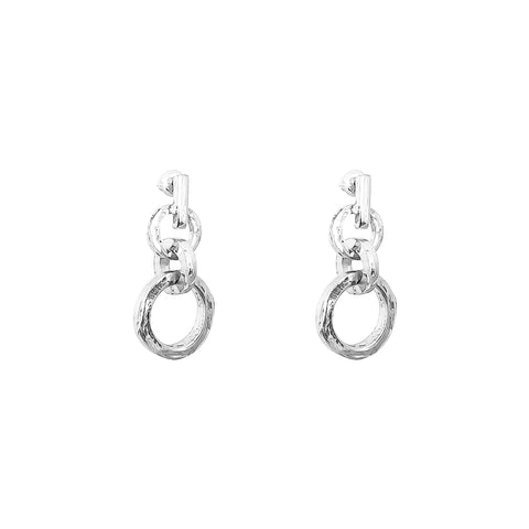Zoe Drop Earrings | Silver