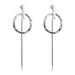 Zoe Earrings With Chain | Silver