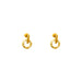 Zoe Fine Stud Earrings | Gold